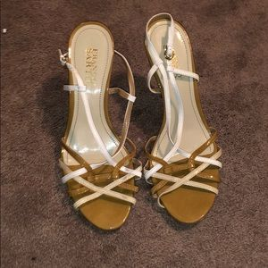Franco Sarto Patent Strappy Heel Sandals